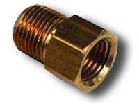 3/8-24 IF FEMALE TO 1/8 in. NPT MALE  STRAIGHT BRASS FITTING