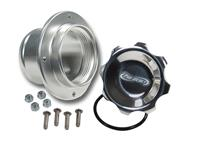 2-3/4 in. POLISHED CAP W/ ALUMINUM REMOTE MOUNT BUNG, 2-1/2 in. HOSE