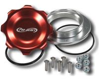 C73-776-B - 2-3/4 in. RED FILL CAP WITH ALUMINUM BOLT-ON BUNG