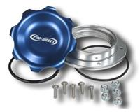 C73-777-B - 2-3/4 in. BLUE FILL CAP WITH ALUMINUM BOLT-ON BUNG