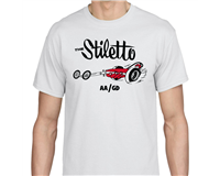 C97-017 - THE STILETTO T-SHIRT, WHITE, LARGE